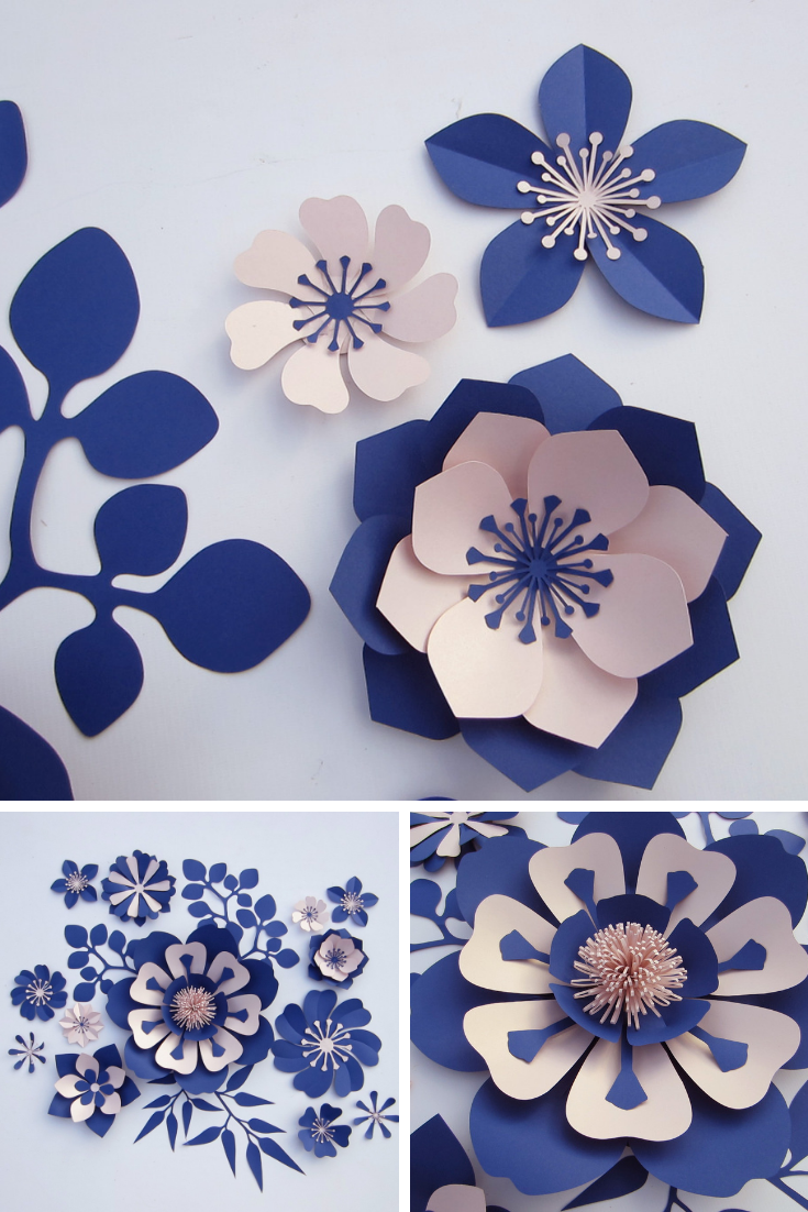 Large Paper Flowers Backdrop Nursery Decor Giant Paper Etsy In 2021 Paper Flowers Craft Paper Flower Wall Flower Crafts