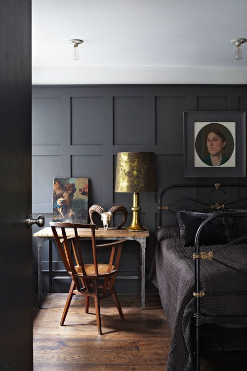 Your Guide to Picking the Perfect Paint Finish Black bedroom decor