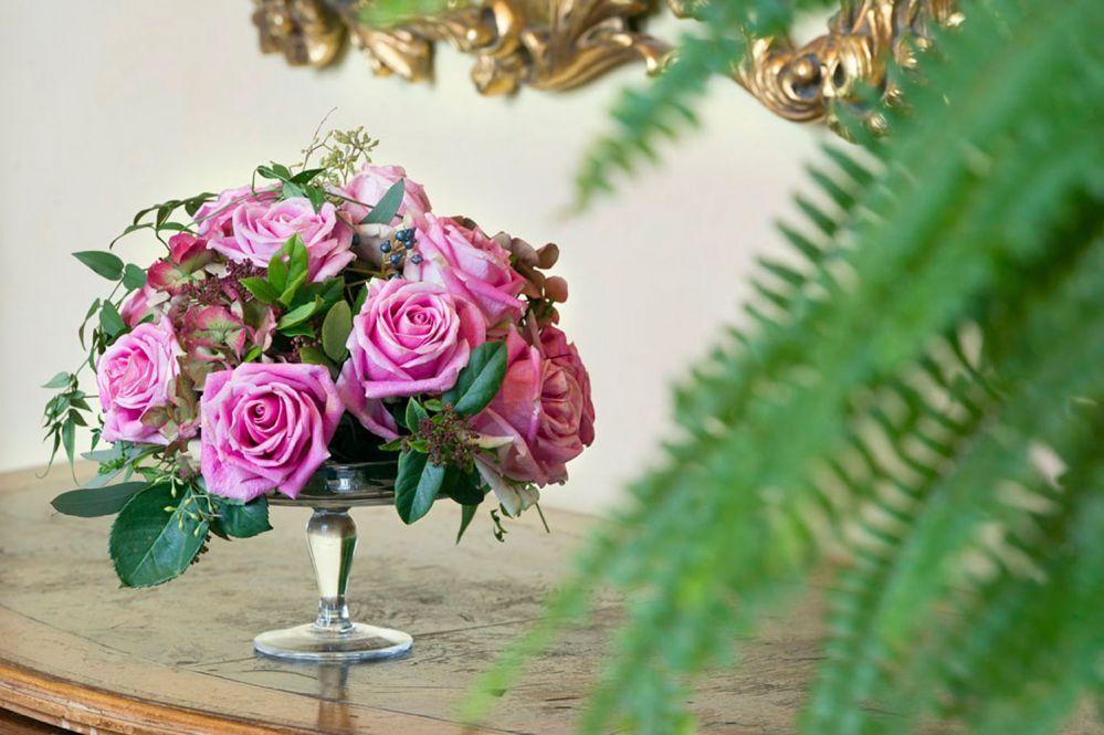 Centrotavola per matrimonio realizzato da Giuseppina Comoli