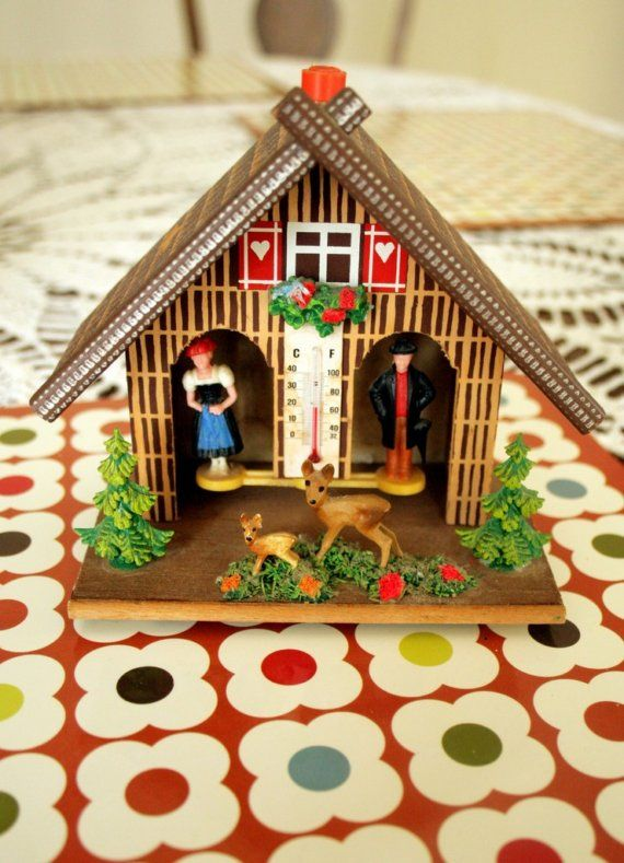 Vintage Weather House (Joggia) made in Western-Germany via Etsy - grimm küchen rastatt