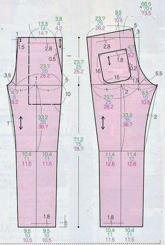 Pin de k en sew pants | Pinterest | Patrones, Costura y Blusas lindas