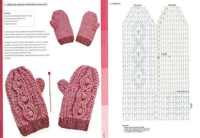 Patron Crochet Mitones - Patrones Crochet | Crochet Accesorios y ...