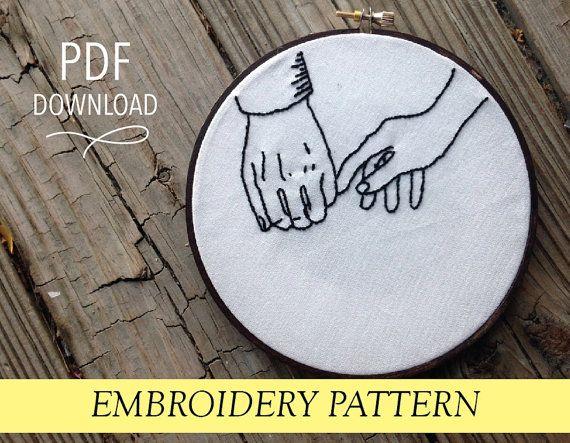 "Feels Like Love // Hand Illustration // 6"" Embroidery Hoopart PDF Pattern"