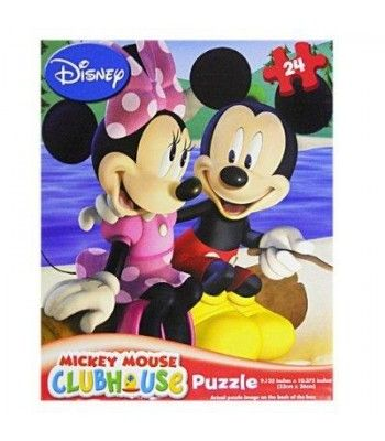 Disney-24 Piece Puzzle Mickey Mouse Clubhouse Minnie Mouse Bowtique Assorted Styles