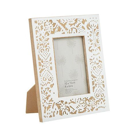 Debenhams White Wood Cutout 4 X 6 Inch Photo Frame At Debenhams Com Wood Cutouts Frame White Wood