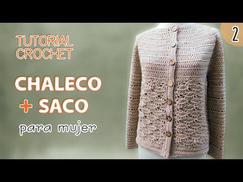 Progresión de talles- Saco Mujer – Paso a Paso Crochet  1e9d08c57af7