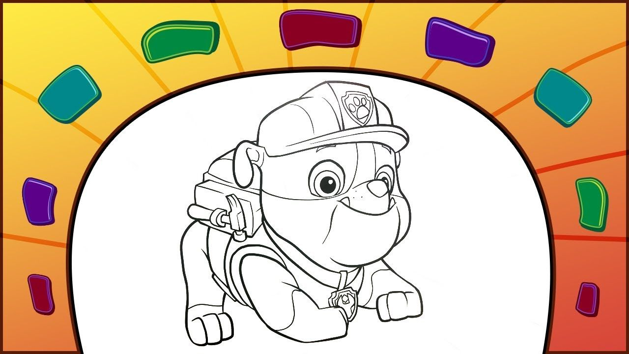 Paw Patrol Coloring Page How To Color Rubber With Colorful Markers Paw Patrol Coloring Pages Paw Patrol Coloring Coloring Pages