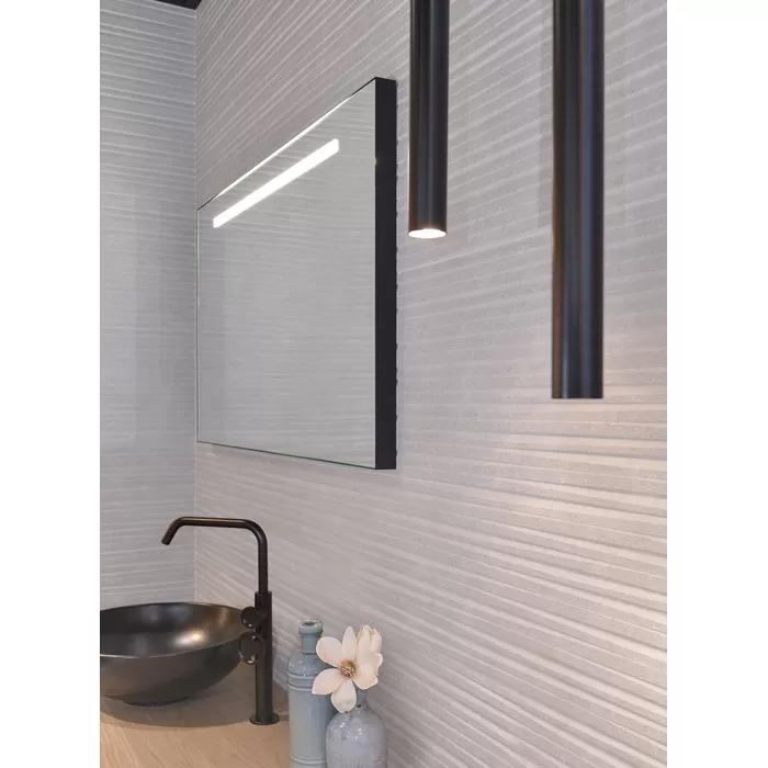 Looox Black Line Spiegel Met Led Verlichting 120x60 Cm Zwart Spiegel Badkamer Badkamerspiegel Badkamer