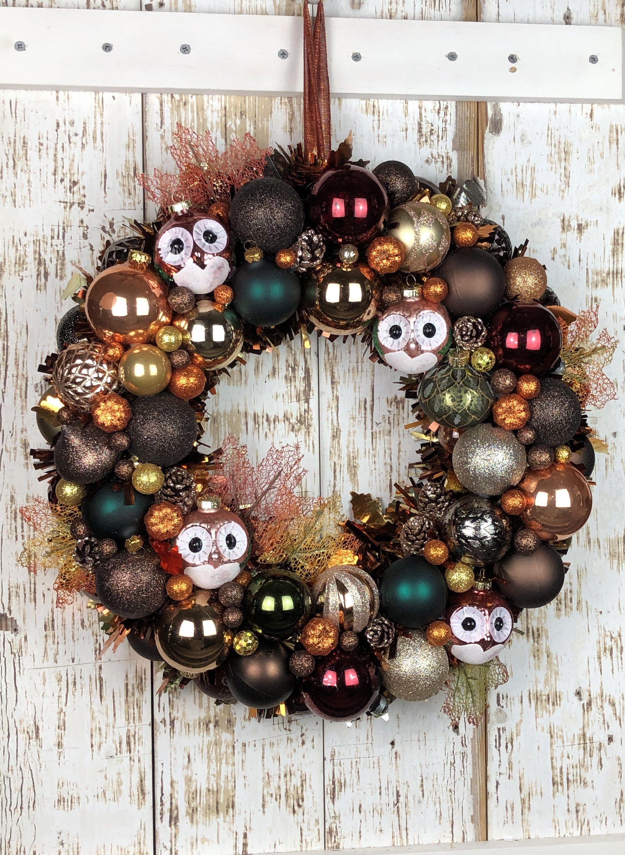 Elegant Fall Ornament Wreath Autumn Wreath Holiday Wreath Etsy Pumpkin Fall Decor Fall Ornaments Halloween Ornament Wreath