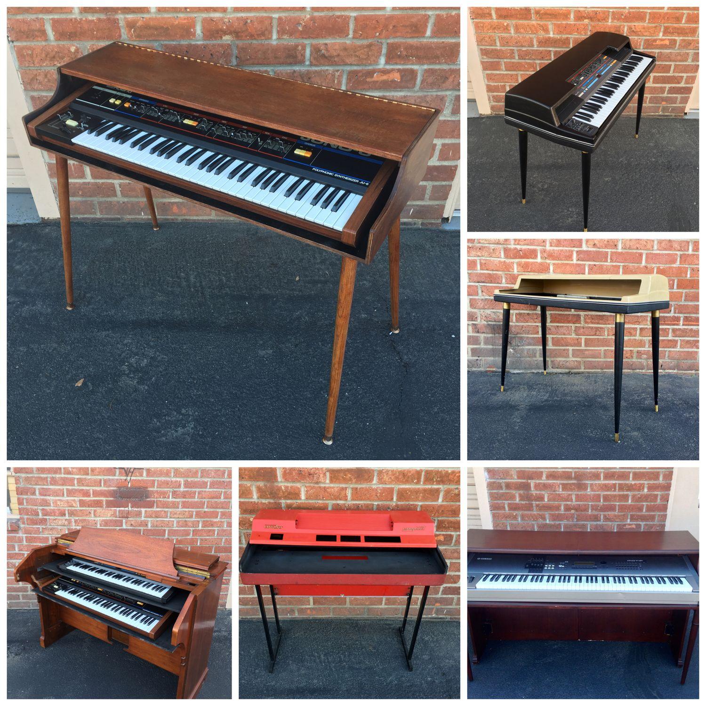 Piano Shells From Custom Vintage Keyboards Piano Decor Electric Piano Piano