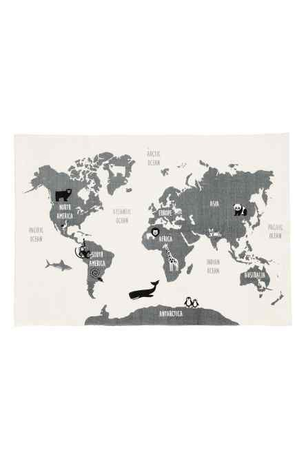 Round cotton rug mezzanine room and interiors house world map motif cotton rug gumiabroncs Images
