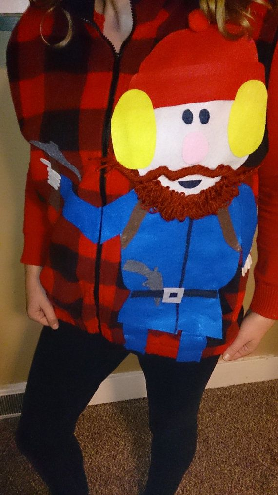 5056ab2e94 Ugly Tacky Christmas Vest Plaid Yukon Cornelius, Rudolph the red nosed  reindeer