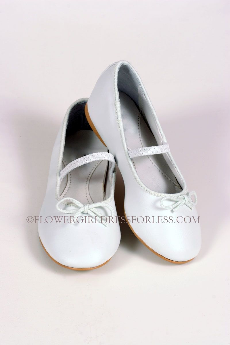 S27w Fancy Ballet Shoe For Older Girls White Shoes Flower