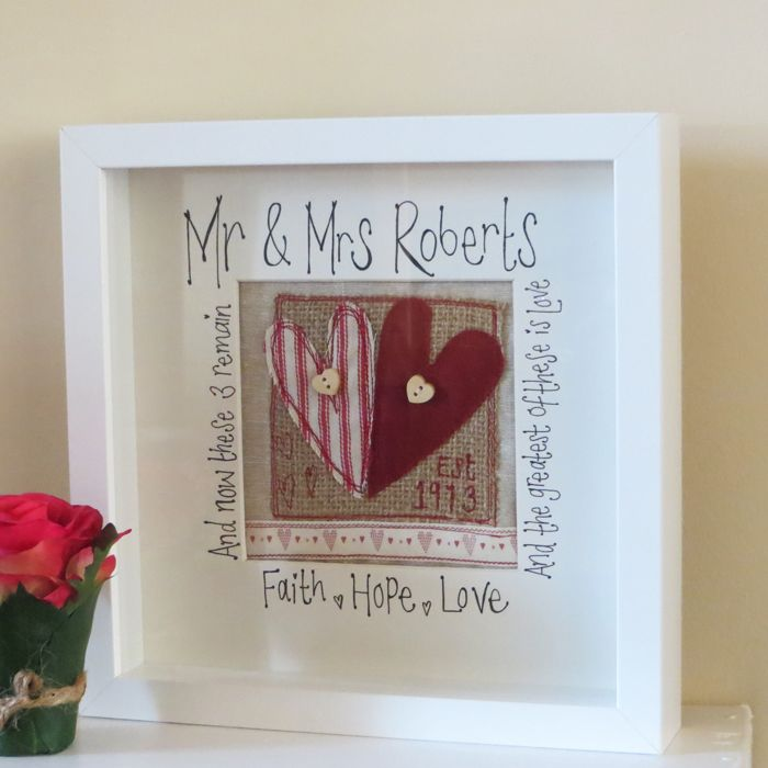 Gorgeous Bespoke Wedding Box Frame From Rosie Lou Crafts Perfect Or Anniversary Gift