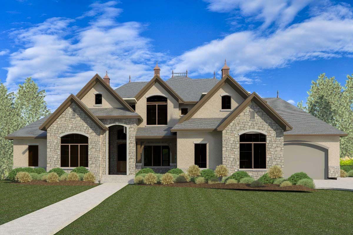 Plan 290058iy European House Plan With Optional Finished Lower Level House Plans European House Plan Architectural Design House Plans