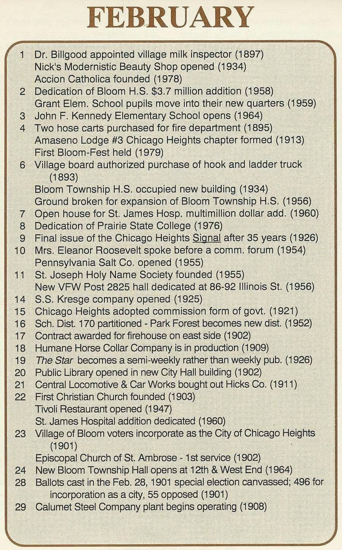 Chicago Heights history Elementary schools, School