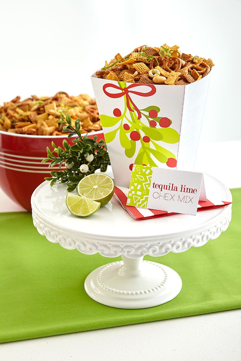 Tequila Lime Chex Mix Perfect For A Mistletoe And Margaritas Holiday Party