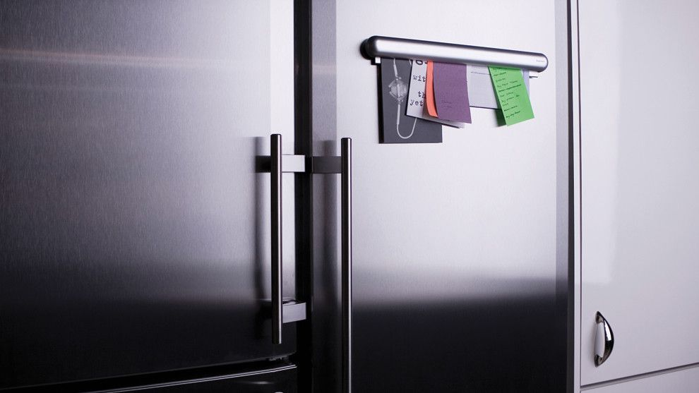 Neat Stainless Steel Magnetic Memo Bar For Fridge Notes Organization Kitchen Storage Solutions Getting Organized