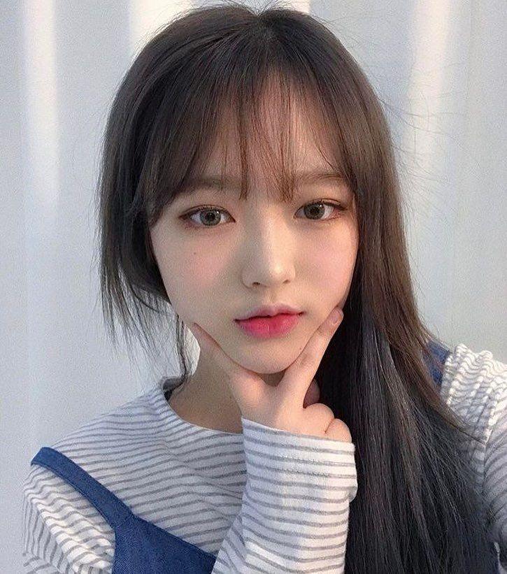 Baby cute girl makeup look koreanstyle love Ulzzang