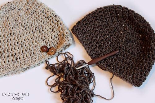 Free Simple Crochet Oatmeal Button Hat Pattern Free Crochet