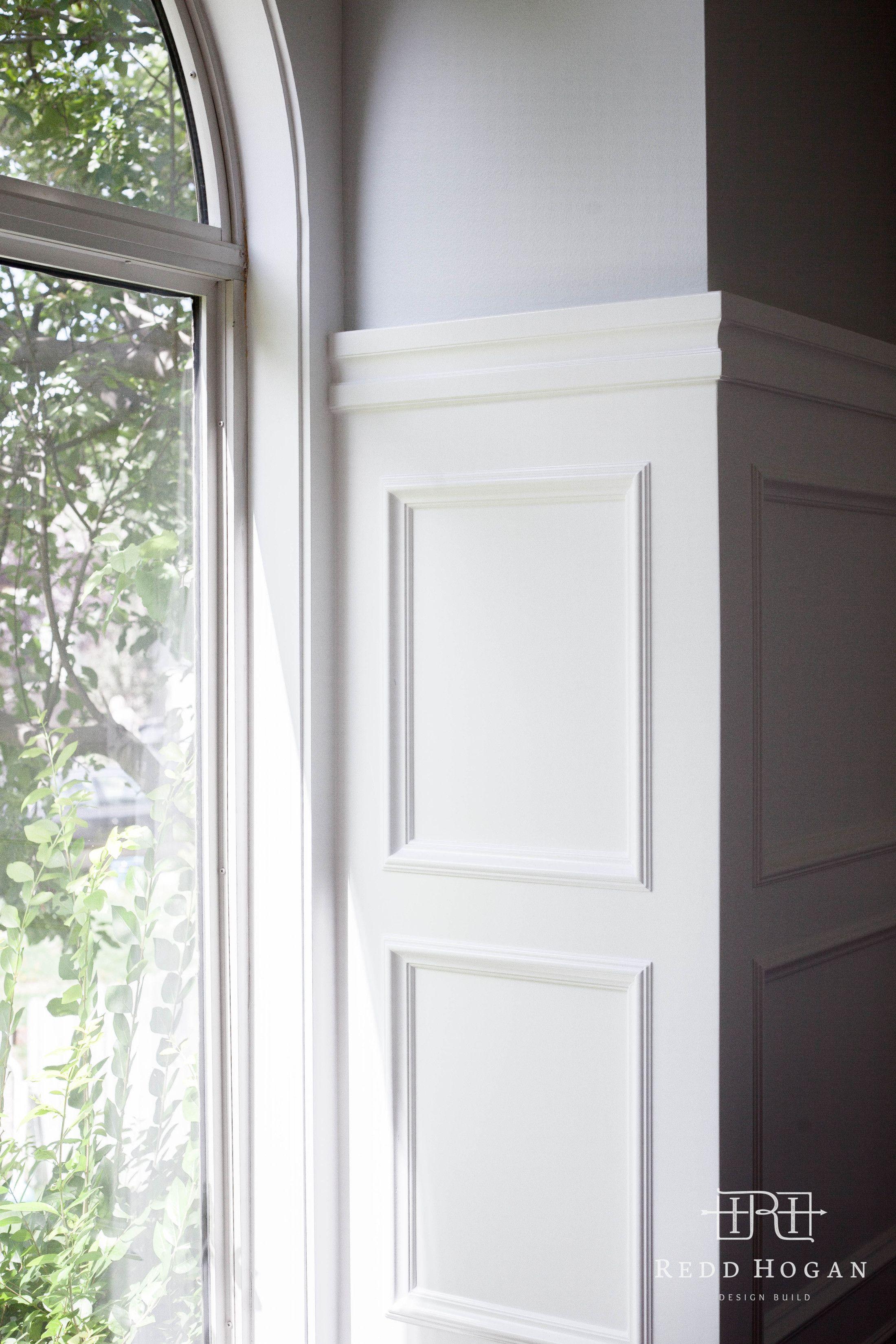 Window moulding ideas  redd hogan design build  holladaymain floor remodel wainscot
