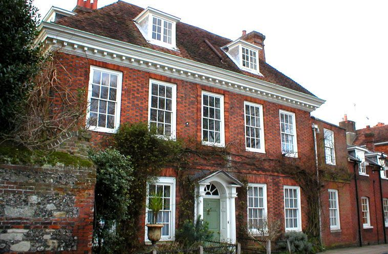 Georgian Town House Winchester Brick Exterior House English House Red Brick House