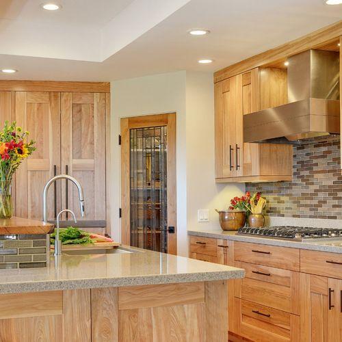 Hickory Kitchen Cabinet: Contemporary Hickory Cabinets Contemporary Kitchen Design
