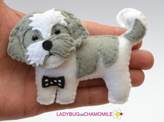 PERSONALIZED DOGS felt Toys, Ornaments, Magnets, Keychains, Brooches.