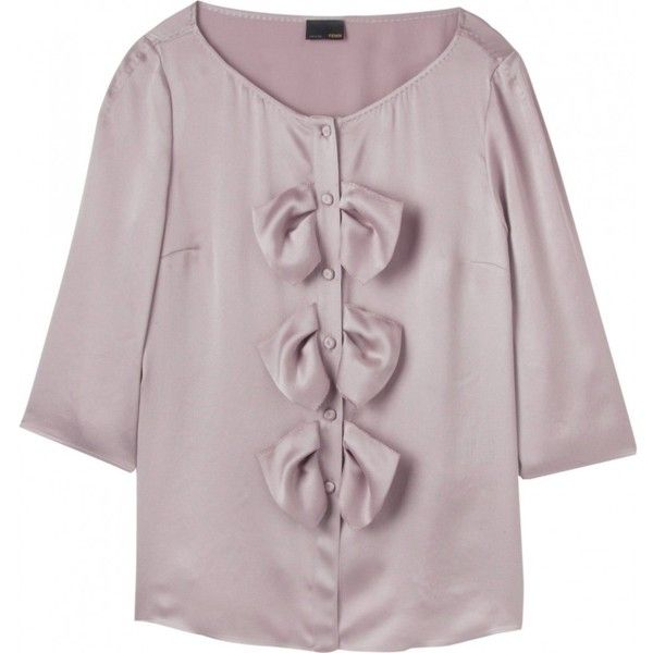 bow detailed blouse - Pink & Purple Fendi Sale 100% Authentic For Nice For Sale Shopping Online Cheap Price Buy Cheap Genuine Outlet Buy egfnI
