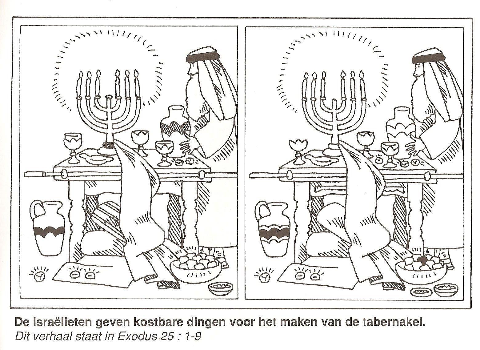 de israelieten geven kostbare dingen voor het maken van de ...