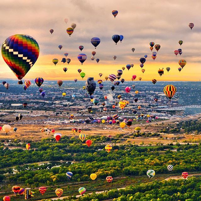 Albuquerque - New Mexico - USA * ********* Fabulous Colorful Hot Air Balloons - The Albuquerque International Balloon Fiesta - The biggest Hot Air Balloon Festival on Earth - Tag somebody you'd fly with *❤️💛💚💙💜❤️💛 ********* Please, check out my friends I've tagged here. They are talented photographers, you won't regret it...