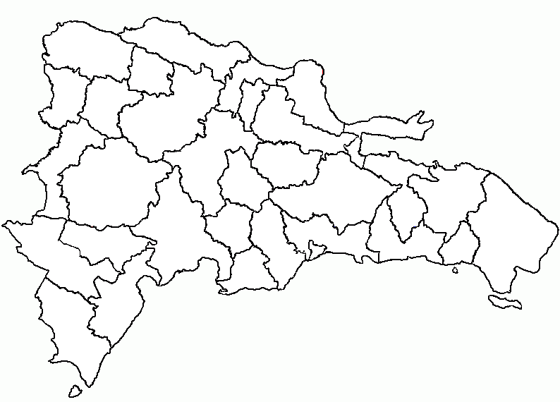 Mapa De Republica Dominicana En Blanco.Las Provincias De La Republica Dominicana Republica