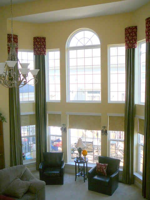 Drapery Ideas For Tall Windows Large Sized Windows
