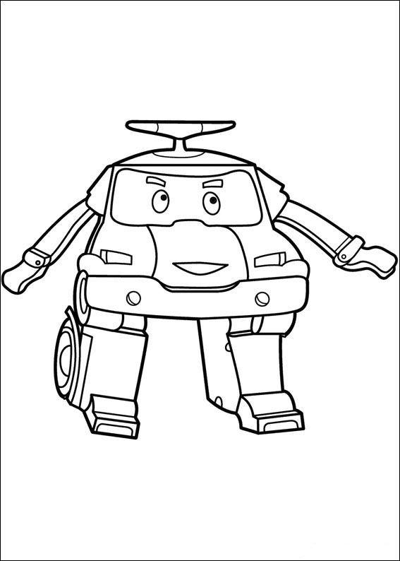 robocar poly 2 ausmalbilder für kinder malvorlagen zum