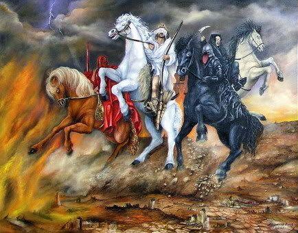 i 4 cavalieri dell'apocalisse | Apocalisse, Cavalli bianchi, Cavalieri