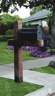 Ozco Project 110 Estate Wooden Mailbox Post At Menards Wooden Mailbox Backyard Landscaping Mailbox