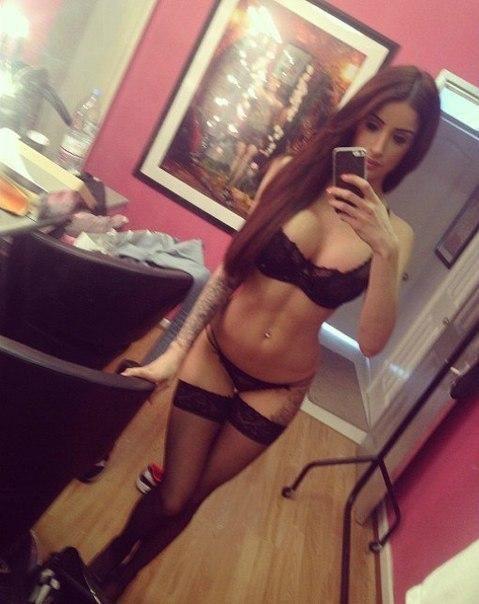 babe selfie Lingerie mirror