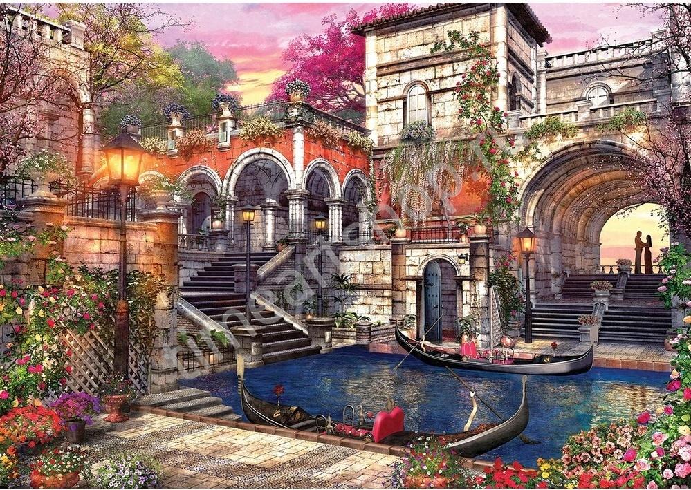 Причал в Венеции. Набор для творчества: картина раскраска ...
