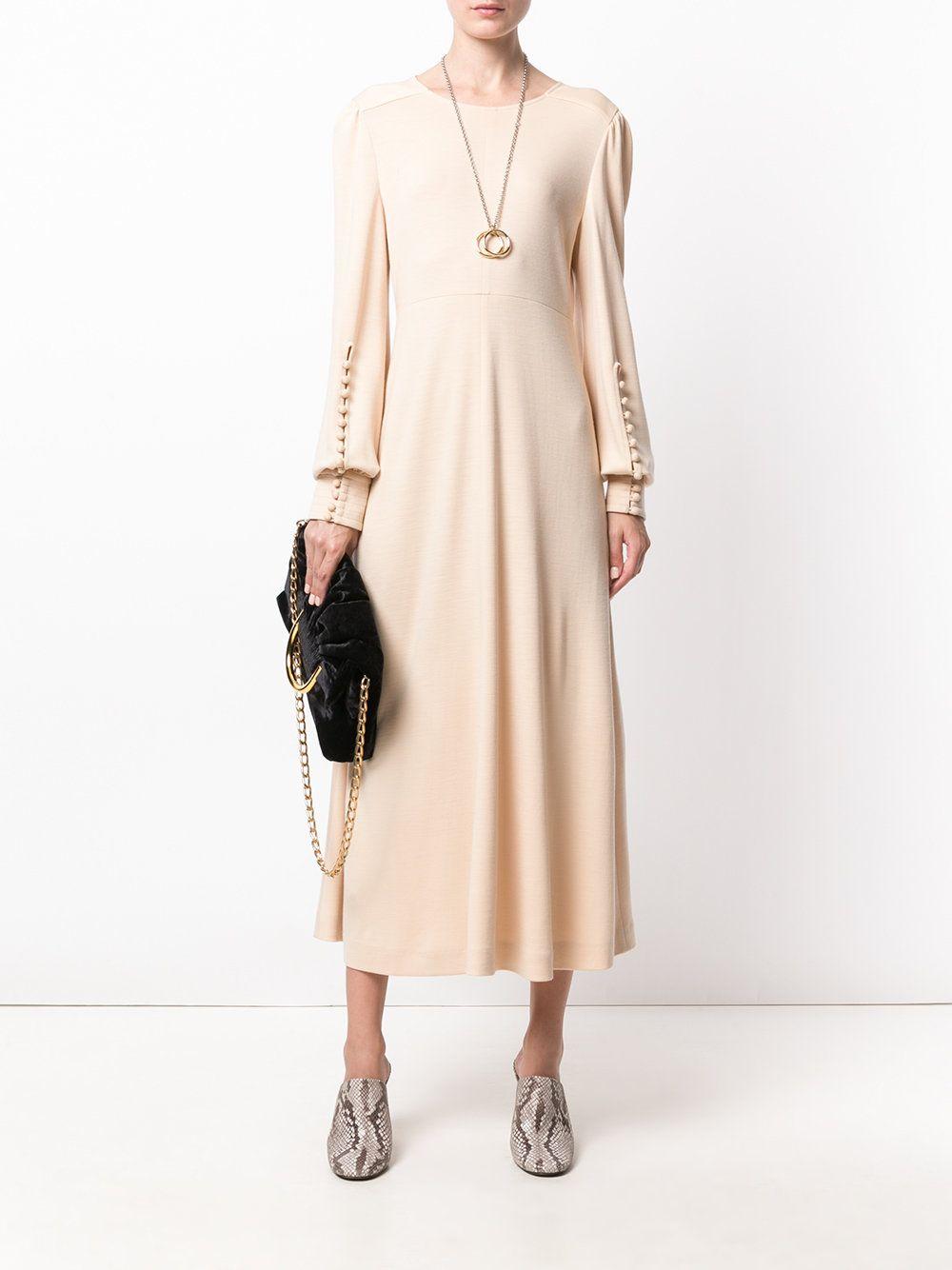 8192e84ad3 Chloé long sleeved midi dress | Chloe | Midi dress with sleeves ...