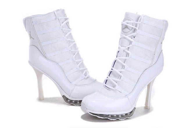 2076e14e5b2c Nike Air Jordan 11 High Heels Boots All White Womens 43496 CAD126.38 ...