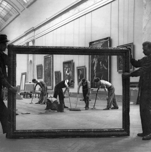 Pierre Jahan     Redevelopment of the Grand Gallery of the Louvre Museum, Paris     1947