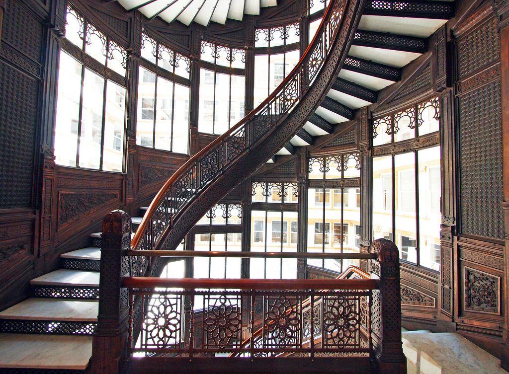 Art Déco - The Rookery Building - Les Intérieurs - Escaliers