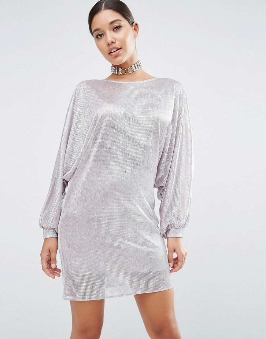 Unique kleid silber