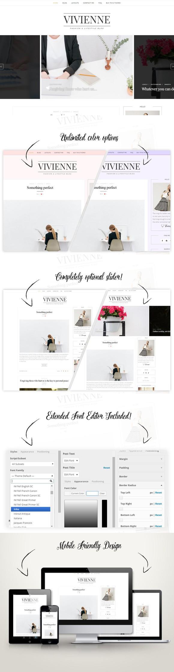 Classic Wordpress Theme Vivienne Blog Themes Wordpress