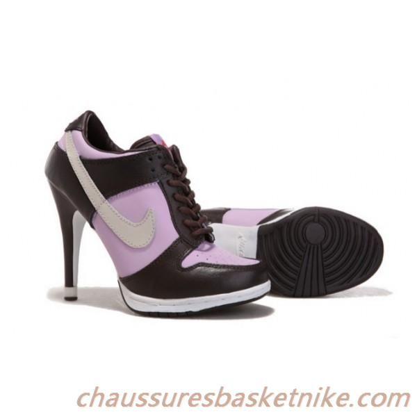 online retailer 78ce2 b4dd5 Femmes Nike Dunk Talons Hauts 2013 Brun  Rose