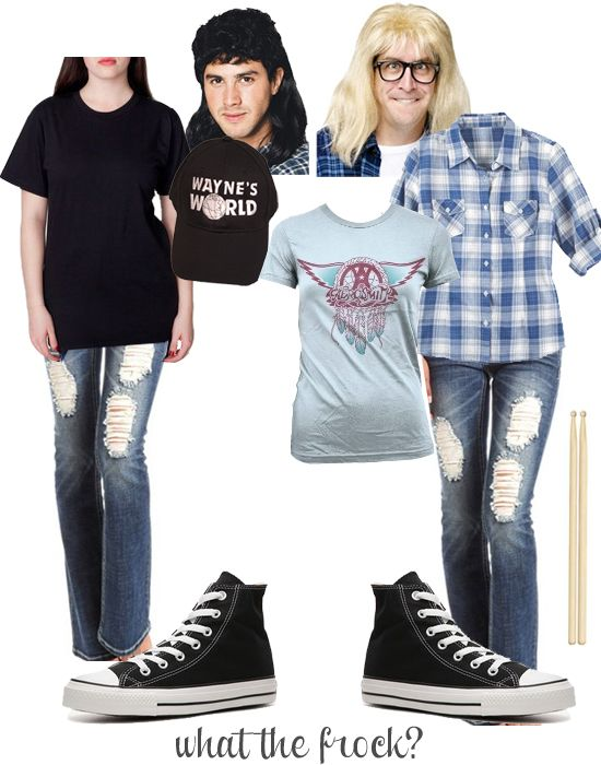 wayne and garth halloween costume via what the frock i would totally wear it all the time
