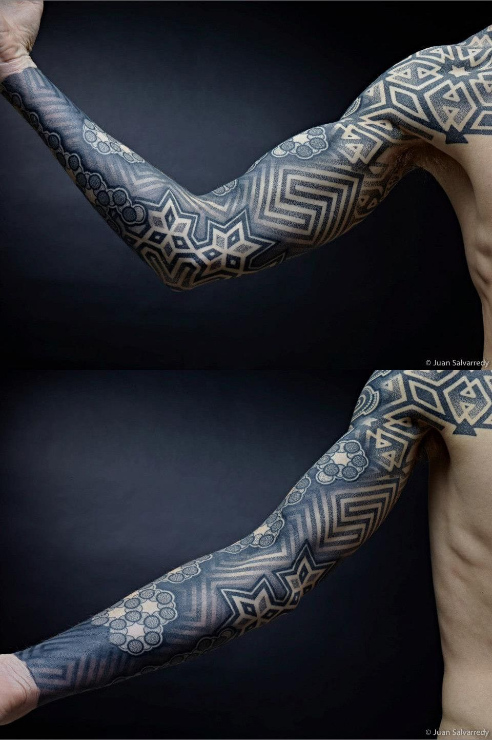 Dotwork Sleeves, Chest, And Back
