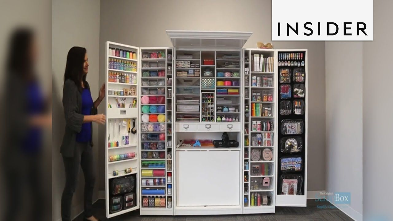 Craft Storage Armoire 250 That Stores An Amazing Amount Of
