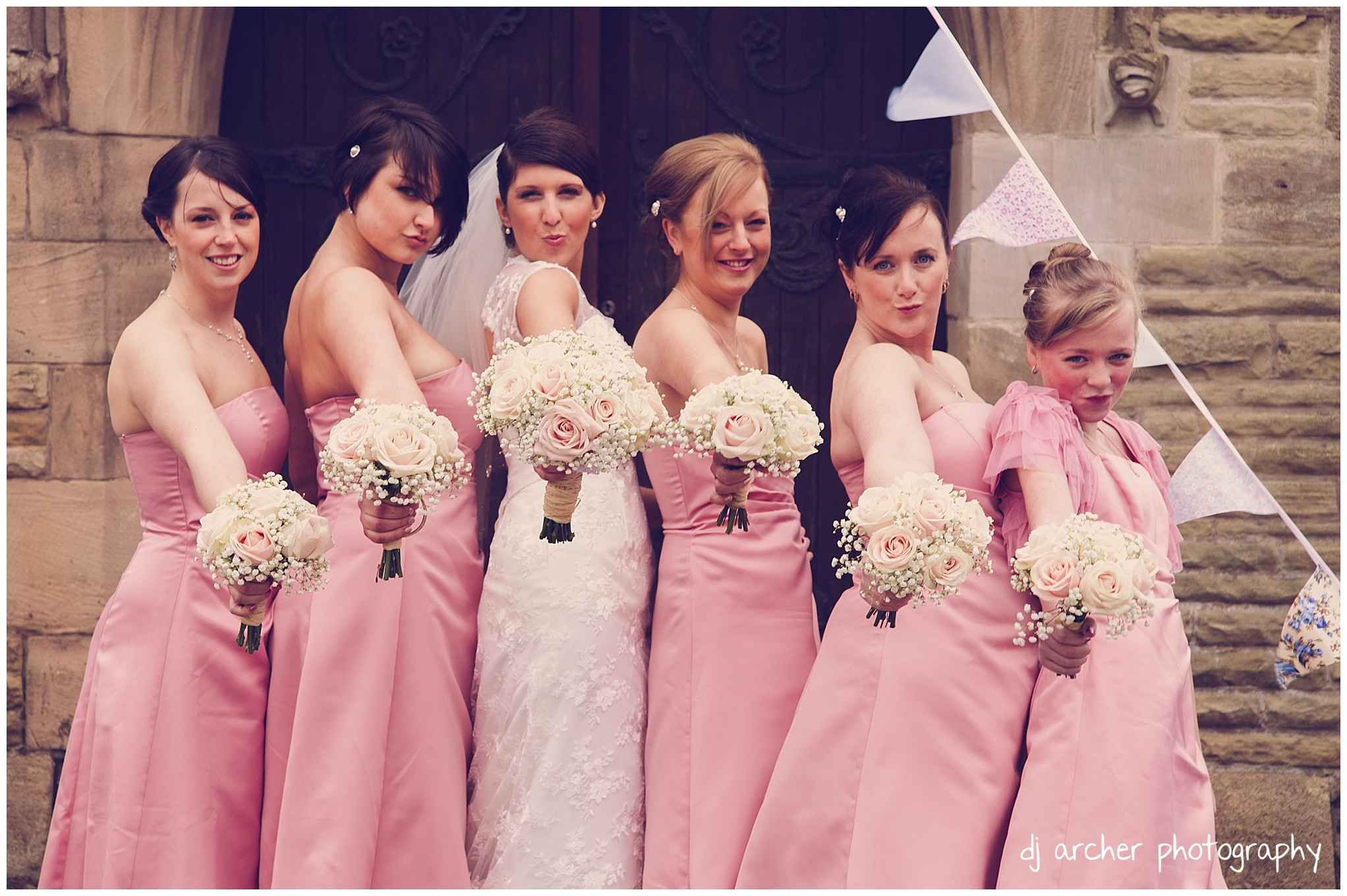 Beautiful Bridesmaids. Fun pose! By North West wedding photographer ...