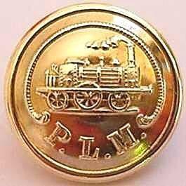Les boutons d'uniformes dans les chemins de fer français.